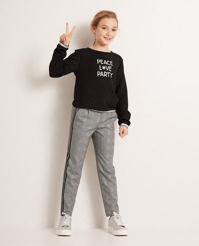 Zwart-witte broek